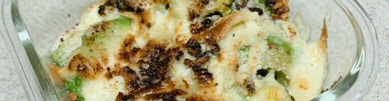 ブロッコリーとアボガドのチーズ焼き