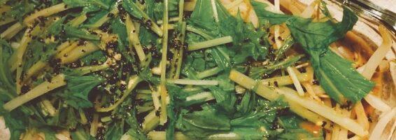 もやしと水菜の温サラダ