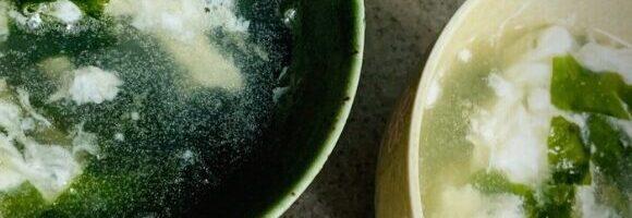 卵白で中華スープ