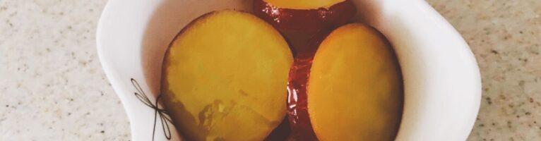 さつまいものハチミツレモン煮