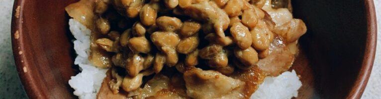 スタミナ豚肉納豆丼